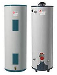 electric and gas water heaters