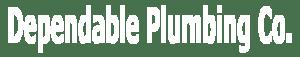 Dependable Plumbing Header logo White
