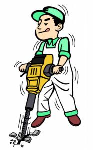 Plumber Jackhammering