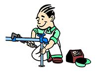 Plumber Repairing Outside Faucet