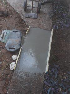 burleson slab leak repair re-pouring concrete outside