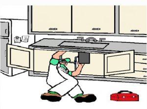 Man Working Under Sink